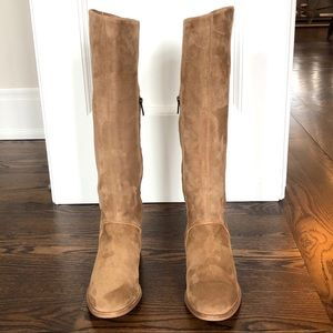 Ugg W Daley Chestnut Tan Suede Knee-High Boots 9
